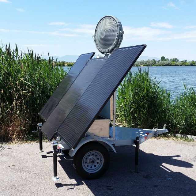 Radar-Activated Solar-Powered High-Power Acoustic Deterrent