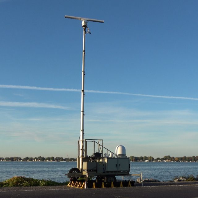 Rapid Deployment Border Security 2D X-Band Radar System
